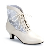 DAME-05 Ivory Faux Leather/Lace